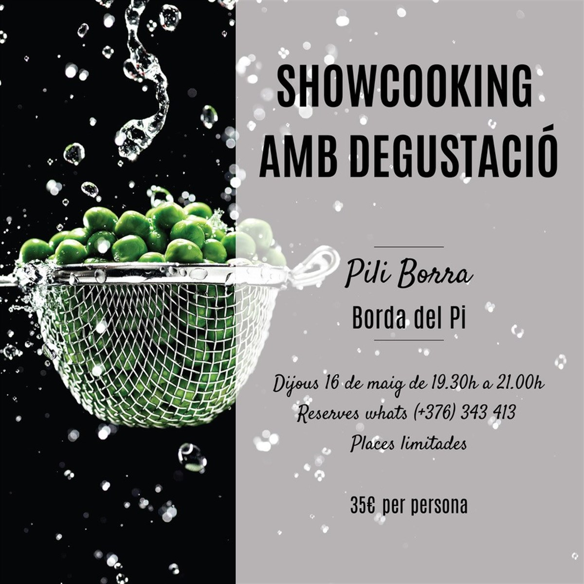 Showcooking with tasting